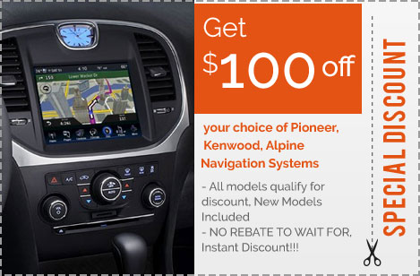 In-Dash Navigation Coupon and Car Audio Discounts | Riverside Auto Sound